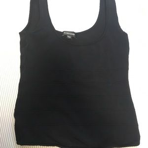 Bebe black crop-top/tank top
